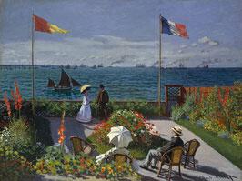 Die Terrasse von Sainte-Adresse, auf Posterpapier