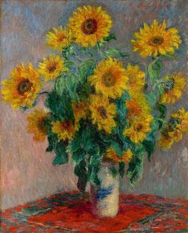 Sonnenblumenstrauss, auf Leinwand