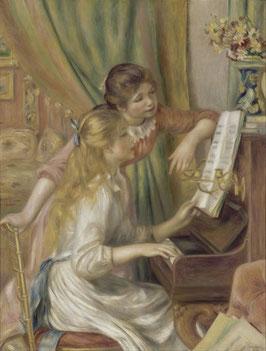 Mädchen am Klavier, auf Aluminiumverbund