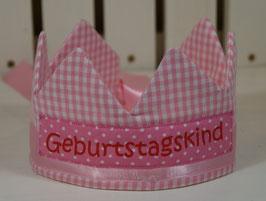 Geburtstagskrone rosa