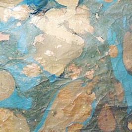 Papierseide, marmoriert