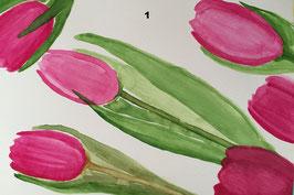 Tulpen - Hochglanzphoto auf Klappkarte C6 in verschiedenen Farben inkl. passendem Umschlag, cellophaniert