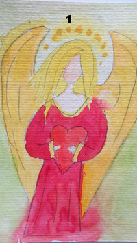 Schutzengel- ganzjährig im Einsatz ;)- zahle 5 Motive, erhalte 6 - Hochglanzphoto auf Klappkarte in verschiedenen Farben inkl. Umschlag, cellophaniert