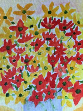 Blumen -zahle 5, erhalte 6 Motive- Hochglanzphoto auf Klappkarte C6 in verschiedenen Farben inkl. passendem Umschlag, cellophaniert