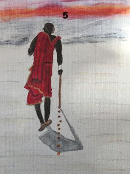 Tansania und Sansibar -zahle 5, erhalte 6 Motive- Hochglanzphoto auf Klappkarte C6 in verschiedenen Farben inkl. passendem Umschlag, cellophaniert
