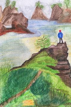 Sehnsucht - Hochglanzphoto auf Klappkarte C6 in verschiedenen Farben inkl. passendem Umschlag, cellophaniert