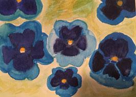 Stiefmütterchen - Hochglanzphoto auf Klappkarte C6 in verschiedenen Farben inkl. Umschlag, cellophaniert