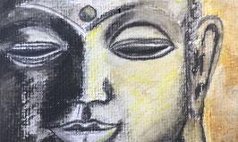 Buddha- zahle 5, erhalte 6 Motive - Hochglanzphoto auf Klappkarte C6 in verschiedenen Farben inkl. passendem Umschlag, cellophaniert