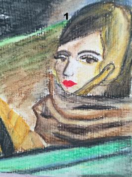 Frauen -zahle 5, erhalte 6 Motive- Hochglanzphoto auf Klappkarte in verschiedenen Farben inkl. Umschlag, cellophaniert