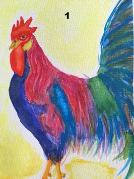 Ostern und die bunte Welt der Tiere - zahle 5, erhalte 6 Motive - Hochglanzphoto auf Klappkarte C6 in verschiedenen Farben inkl. passendem Umschlag, cellophaniert