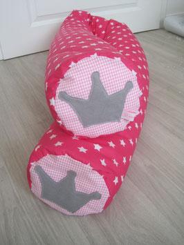 10/ XXL Bettrolle pink GS/rosa V/ graue Krone