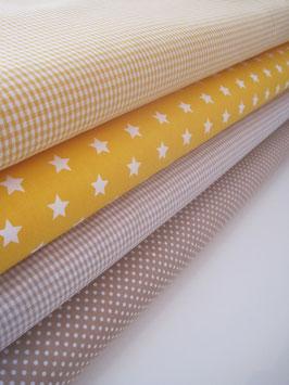 45/ Stoffset gelb/beige