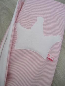 41/ Babykuscheldecke rosa gestreift