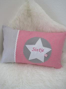 17/ Kissenbezug incl I0let pink grau
