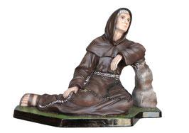 Statua San Ludovico da Casoria cm. 25 in resina