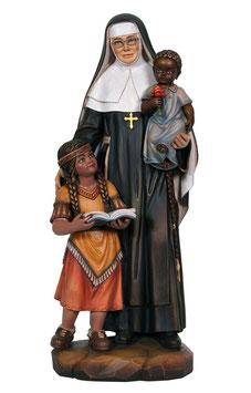 Statua Santa Caterina Drexel in legno