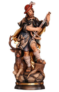 Statua Sant' Uberto in legno