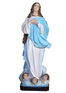Statua Madonna Assunta del Murillo in vetroresina cm. 155