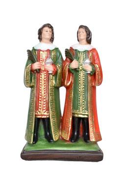 Statua Santi Cosma e Damiano cm. 25 in resina