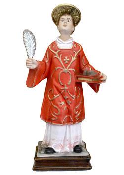 Statua Santo Stefano cm. 30 in resina