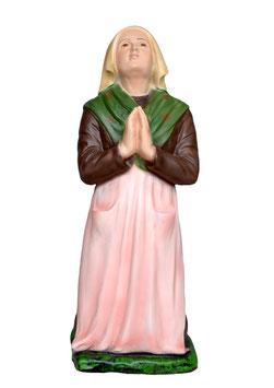 Statua Santa Bernadette cm. 25 in resina