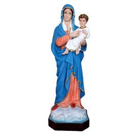 Statua Madonna con Bambino in resina cm. 95