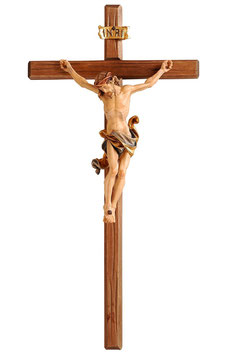 Statua Gesù crocifisso  in legno da parete mod. 703