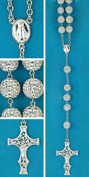 Rosario in argento e cristallo mod. 1753