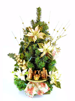 Albero di Natale con statue Natività modello Cristallo