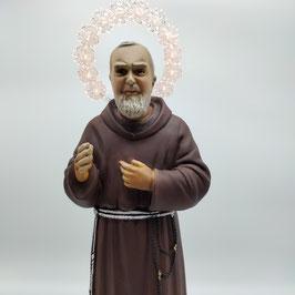 Statua San Padre Pio cm. 40 con aureola illuminata