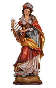 Statua Santa Cecilia in legno