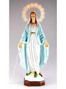 Statua Madonna Miracolosa in resina cm. 35 con aureola illuminata