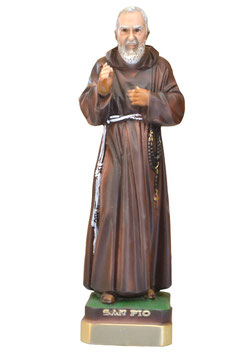 Statua San Padre Pio da Pietrelcina cm. 30 in resina