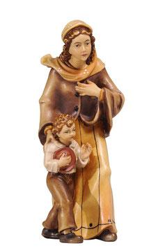 Statua donna con bambino in legno