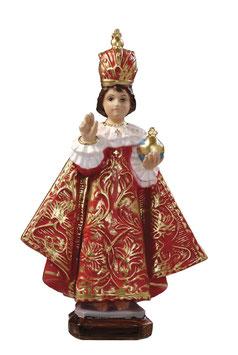 Statua Gesù Bambino di Praga in resina cm. 30