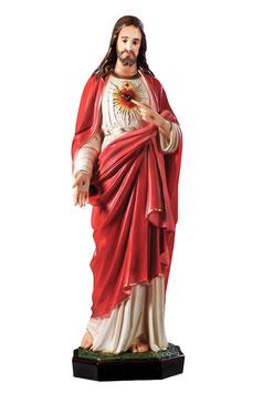 Statua Sacro Cuore di Gesù cm. 85 in vetroresina