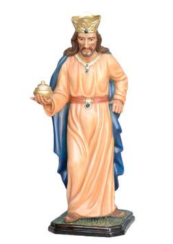Statua Re Magio bianco in resina per Natività cm. 100
