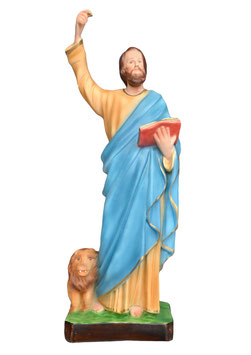 Statua San Marco Evangelista cm. 43 in resina