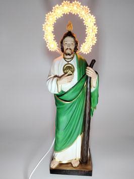 Statua San Giuda Taddeo cm. 31 in resina con aureola illuminata