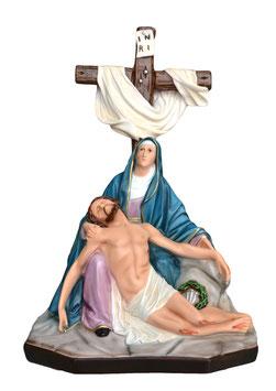 Statua Pietà in resina cm. 42