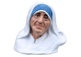 Busto Madre Teresa di Calcutta cm. 35 in vetroresina