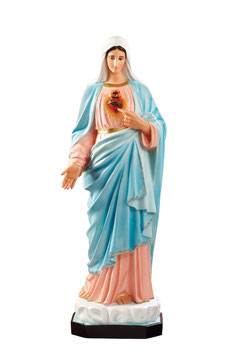Statua Sacro Cuore di Maria in vetroresina cm. 130