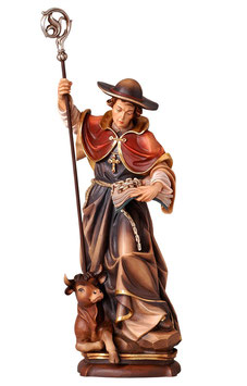 Statua San Leonardo in legno