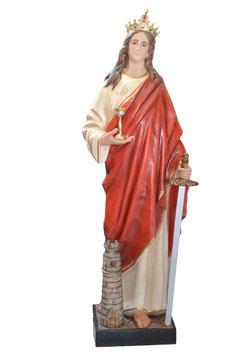 Statua Santa Barbara cm. 155 in vetroresina
