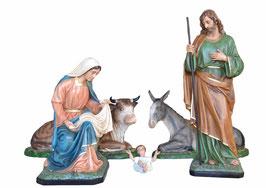 Statue Natività 5 pezzi cm. 120 e 160 in vetroresina