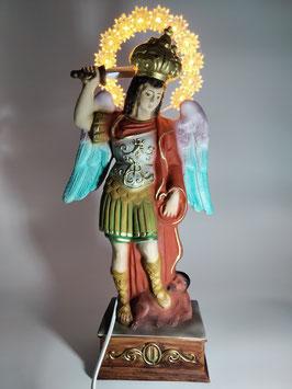 Statua San Michele cm. 30 con aureola illuminata
