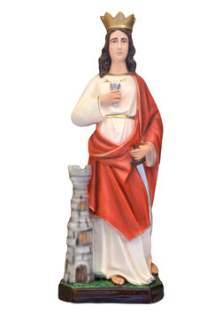 Statua Santa Barbara cm. 60