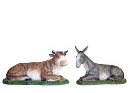 Statue Bue e asino per Natività cm. 160