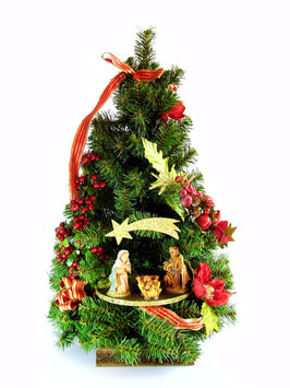 Albero di Natale con statue Natività modello Giada