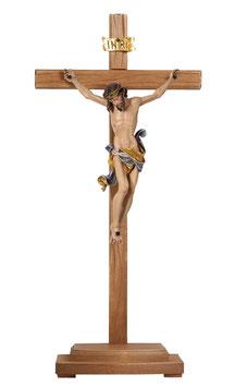 Statua Gesù crocifisso  in legno da appoggio mod. 708